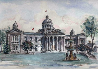Frontenac Courthouse Ink and Watercolour