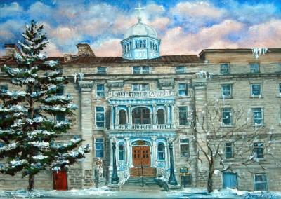 HOTEL DIEU Sydenham St. with blue portico