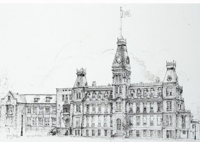 RMC Mackenzie Bldg black ink