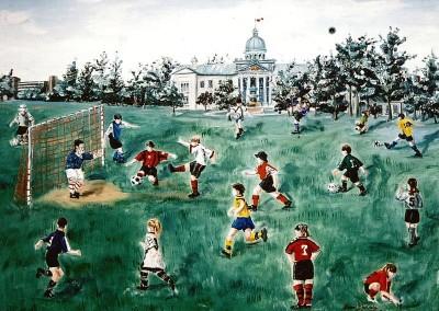 Soccer city park play